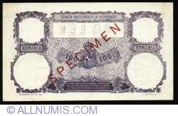 100 Lei 1929 SPECIMEN