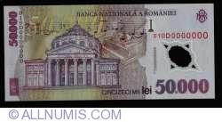 50000 Lei 2001 SPECIMEN