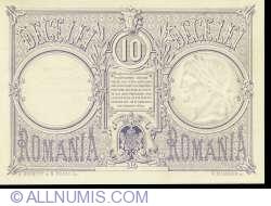 10 Lei 1877 (12. VI.) - SPECIMEN