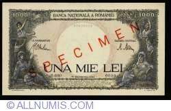 1000 Lei 1941 (10. IX.) - SPECIMEN