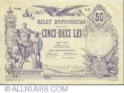 50 Lei 1877 (12 June) SPECIMEN