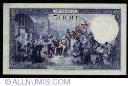 5000 Lei 1931 (31. III.) - SPECIMEN