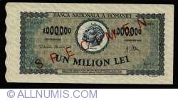 1,000,000 Lei 1947 (16. IV.) - SPECIMEN