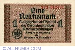 Image #1 of 1 Reichsmark ND(1940-1945) - three digits serial prefix