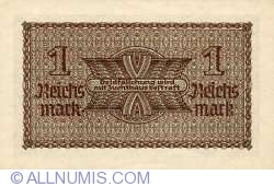 Image #2 of 1 Reichsmark ND(1940-1945) - three digits serial prefix