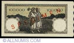 Image #2 of 100000 Lei 1945 (7. VIII.) - SPECIMEN