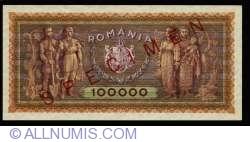 100,000 Lei 1947 (25. I.) - SPECIMEN