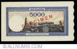 5000 Lei 1944 (10 X.) - SPECIMEN