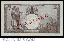 500 Lei 1938 SPECIMEN