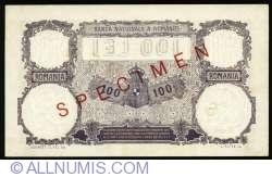 100 Lei 1929 (17. I.) - SPECIMEM