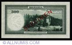 500 Lei 1934 (31. VI.) - SPECIMEN