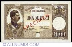 1000 Lei 1933 (15. VI.) - SPECIMEN