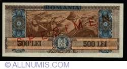 500 Lei 1947 (25. VI.) SPECIMEN