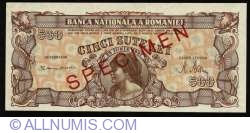 500 Lei 1947 (25. VI.) - SPECIMEN (without serial)
