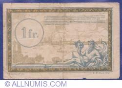 Image #2 of 1 Franc 1923 (ND) - Régie des Chemins de Fer des Territoires occupés