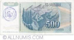 Imaginea #2 a 500 Dinari ND (1992)