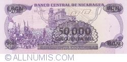 Image #2 of 50,000 Cordobas on 50 Cordobas ND (1987)