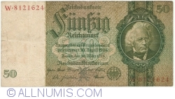Image #1 of 50 Reichsmark 1933 (30. III.) - X (7 digit serial)