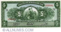 5 Soles de Oro 1966 (18. XI.)