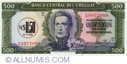 Image #1 of 0.50 Nuevo Peso on 500 Pesos ND(1975)