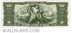 Image #2 of 1 Centavo on 10 Cruzeiros ND (1966)