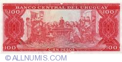 Image #2 of 100 Pesos ND(1967) - signatures W. Rosso / J. C. Pacchiotti / José Gil Diaz