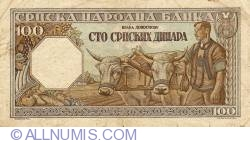 Imaginea #2 a 100 Dinari 1943 (1. I.)