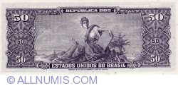 Image #2 of 5 Centavos ND(1966-1967) (overprint on 50 Cruzeiros ND(1963) - P#179)