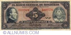 Imaginea #1 a 5 Lempiras 1960