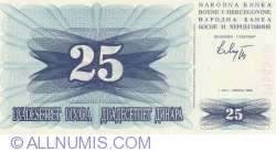 Imaginea #1 a 25 Dinari 1992