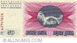 Imaginea #2 a 50 Dinari 1992 (1. VII.)