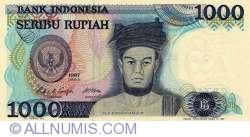 Image #1 of 1000 Indonesian Rupiah 1987
