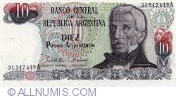 Image #1 of 10 Pesos Argentinos ND (1983-1984) - signatures Pedro Camilo López / Julio C. González del Solar