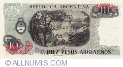 Image #2 of 10 Pesos Argentinos ND (1983-1984) - signatures Pedro Camilo López / Julio C. González del Solar