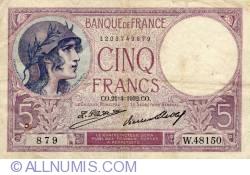 Image #1 of 5 Francs 1932 (21. IV.)