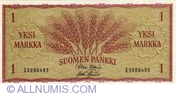Image #1 of 1 Markka 1963 - signatures Waris/ Aspelund