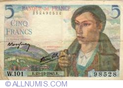Image #1 of 5 Francs 1943 (23. XII.)
