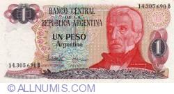 Image #1 of 1 Peso Argentino ND (1983-1984) - signatures Pedro Camilo López/  Enrique García Vázquez