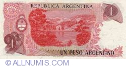 Image #2 of 1 Peso Argentino ND (1983-1984) - signatures Pedro Camilo López/  Enrique García Vázquez