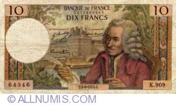 Image #1 of 10 Francs 1973 (2. VIII.)