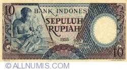 Image #1 of 10 Rupiah 1958