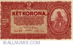 Imaginea #1 a 2 Coroane 1920 - Serie Tip 0aa000  000.000