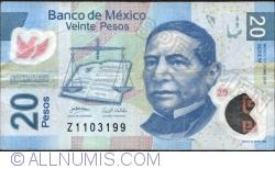 Image #1 of 20 Pesos 2010 (3. V.) - Serie M