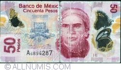Image #1 of 50 Pesos 2012 (12. VI.) - Serie E
