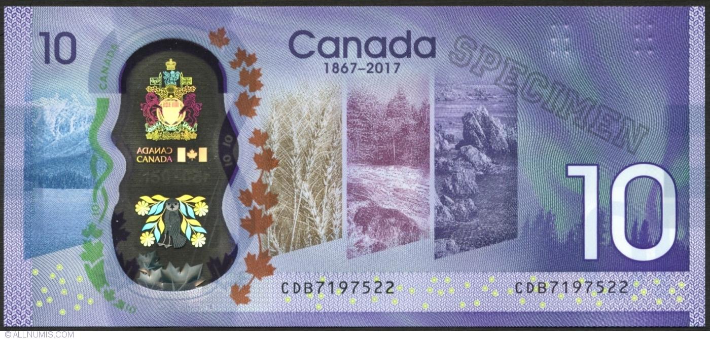 "CANADA 10 DOLLARS 2017 P-NEW POLYMER /""150th Annyversary of Confederation/"""