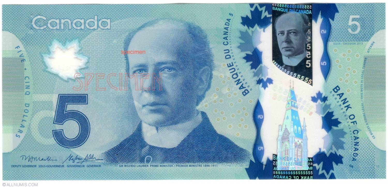 Canadian fivedollar note  Wikipedia