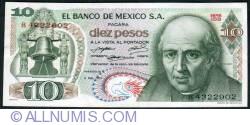 Image #1 of 10 Pesos 1971 (3. II.)