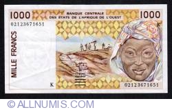 Image #1 of 1000 Francs (20)02