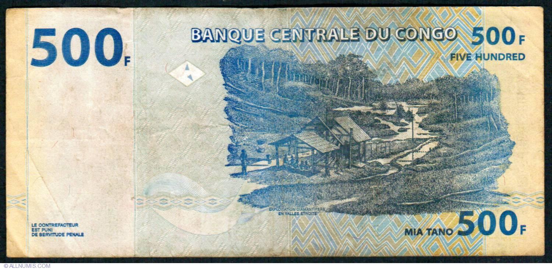 CONGO 500 FRANCS 2002 P-96 UNC