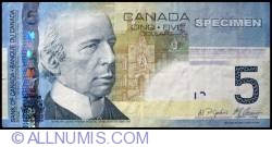 5 Canadian Dollars 2008
